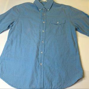 Criquet Blue Mens Size Medium Button Down Shirt